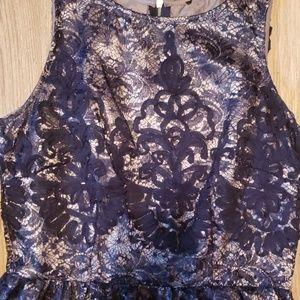 Dress Barn Dresses - Beautiful Navy Lace Dress